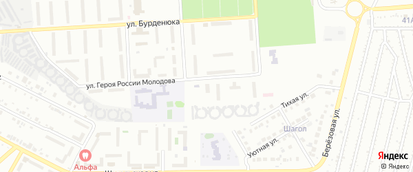 Территория ГСК 508 по ул Молодова блок 11 на карте Челябинска с номерами домов