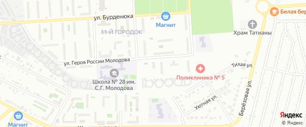 Территория ГСК 508 по ул Молодова блок 9 на карте Челябинска с номерами домов