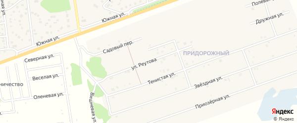 Улица Реутова на карте Увельского поселка с номерами домов