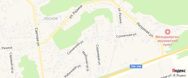 Солнечная улица на карте Южноуральска с номерами домов