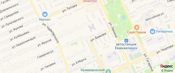 Северная улица на карте Еманжелинска с номерами домов