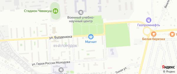Территория ГСК 508 по ул Бурденюка блок 5 на карте Челябинска с номерами домов