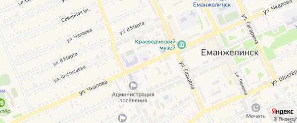 Улица Чкалова на карте Еманжелинска с номерами домов