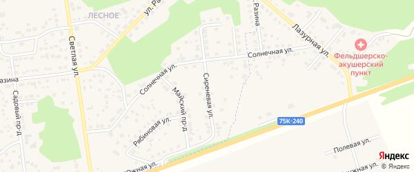 Сиреневая улица на карте Увельского поселка с номерами домов