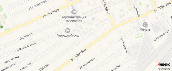 Улица Победы на карте Еманжелинска с номерами домов