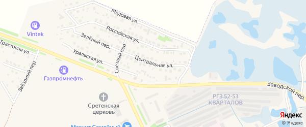 Центральная улица на карте Еманжелинска с номерами домов