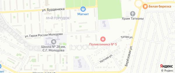 Территория ГСК 508 по ул Молодова блок 5 на карте Челябинска с номерами домов