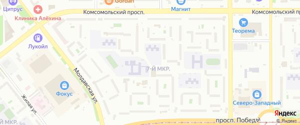 Сад СНТ Авиатор-2 улица 7 на карте Челябинска с номерами домов