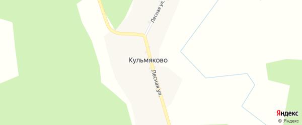 Лесная улица на карте деревни Кульмяково с номерами домов