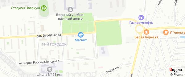 Территория ГСК 508 по ул Бурденюка блок 3 на карте Челябинска с номерами домов