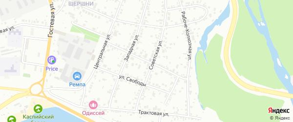 Пролетарская улица на карте Челябинска с номерами домов