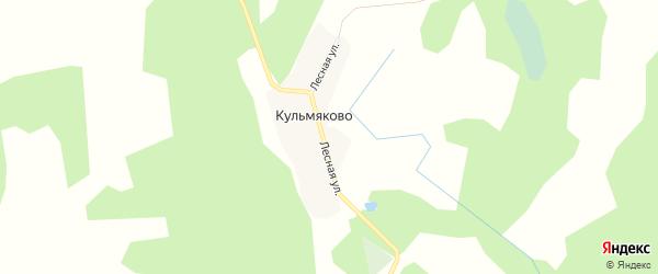 Карта деревни Кульмяково в Челябинской области с улицами и номерами домов