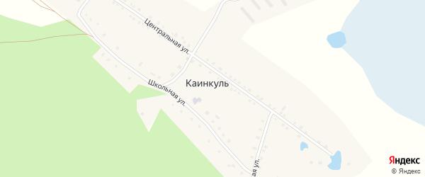 Школьная улица на карте деревни Каинкуля с номерами домов