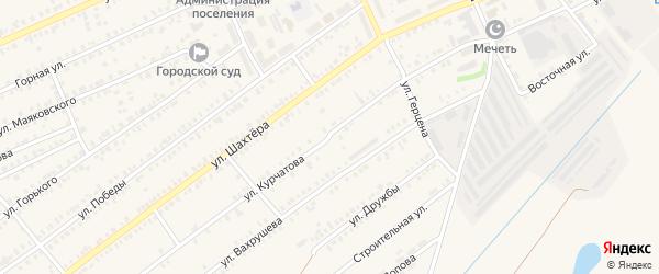 Улица Курчатова на карте Еманжелинска с номерами домов