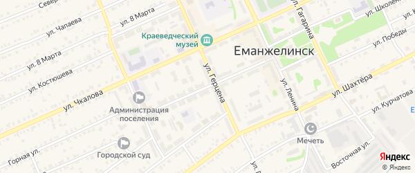 Улица Мира на карте Еманжелинска с номерами домов