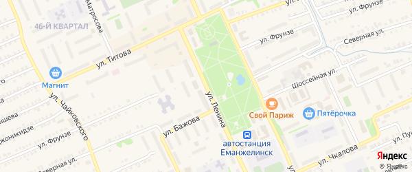 Улица Ленина на карте Еманжелинска с номерами домов