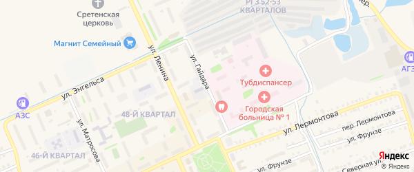 Улица Гайдара на карте Еманжелинска с номерами домов