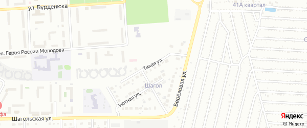 Тихая улица на карте Челябинска с номерами домов
