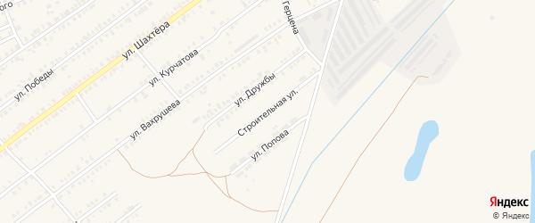 Строительная улица на карте Еманжелинска с номерами домов