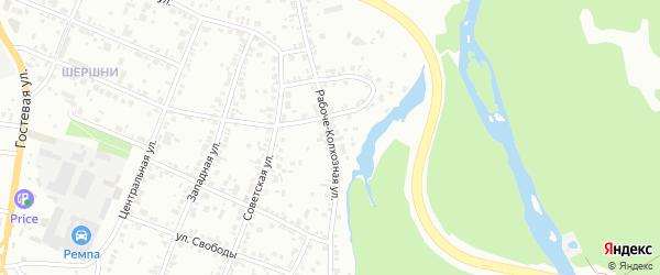 Рабоче-Колхозная улица на карте Челябинска с номерами домов