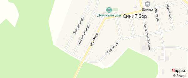 Улица Мира на карте поселка Синего Бора с номерами домов