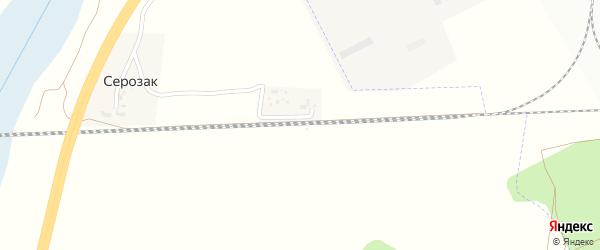 Путейная улица на карте разъезда Серозака с номерами домов