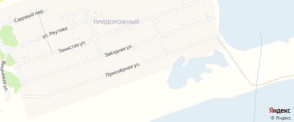 Приозерная улица на карте Увельского поселка с номерами домов