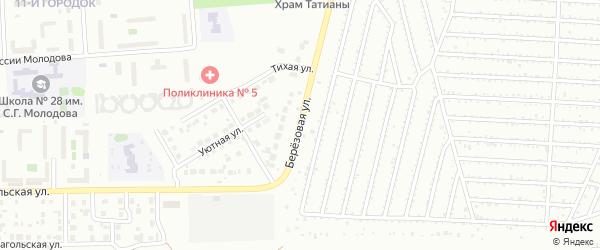 Березовая улица на карте Челябинска с номерами домов