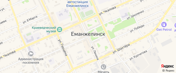 Улица Ломоносова на карте Еманжелинска с номерами домов