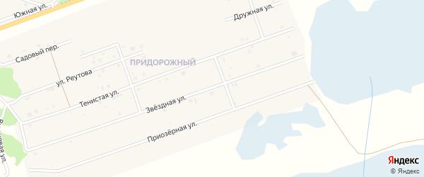 Звездная улица на карте Увельского поселка с номерами домов