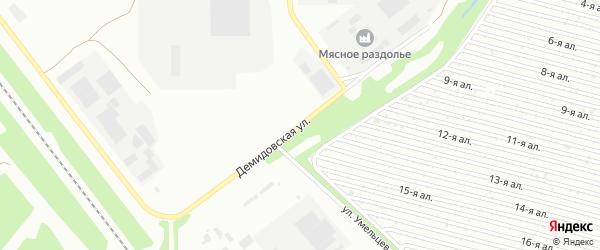Демидовская улица на карте Челябинска с номерами домов