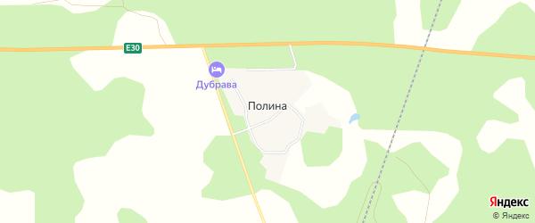 Карта поселка Полины в Челябинской области с улицами и номерами домов