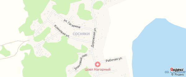 Дорожная улица на карте Увельского поселка с номерами домов