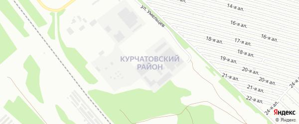 Территория ГСК 508 Курчатовский р-н на карте Челябинска с номерами домов