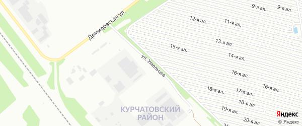 Улица Умельцев на карте Челябинска с номерами домов