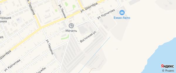 Восточная улица на карте Еманжелинска с номерами домов