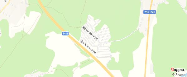 Дачное некоммерческое партнерство Свобода на карте Долгодеревенского села с номерами домов