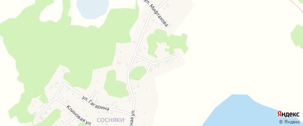 Улица Мифтахова на карте Увельского поселка с номерами домов