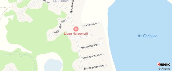Улица Ческидова на карте Увельского поселка с номерами домов