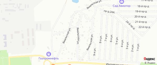 Ямальская улица на карте Челябинска с номерами домов