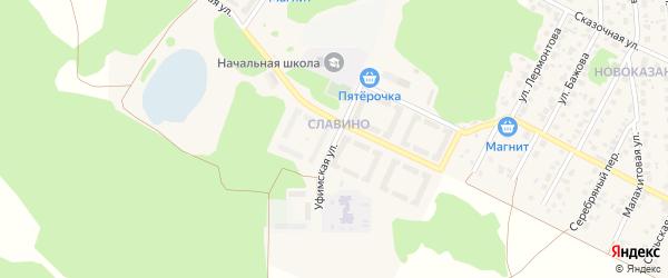 Уфимская улица на карте поселка Смолина ж-д. ст. с номерами домов