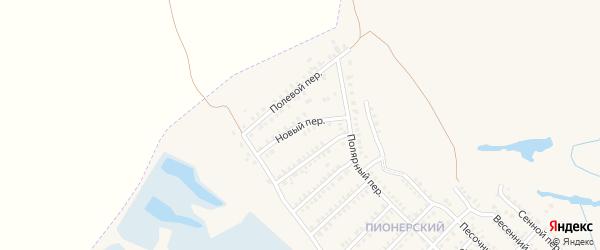 Новый переулок на карте Еманжелинска с номерами домов