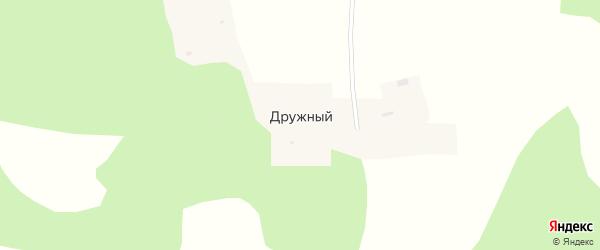 Садовая улица на карте Дружного поселка с номерами домов