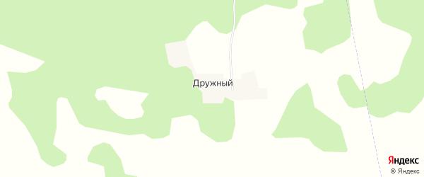 Карта Дружного поселка в Челябинской области с улицами и номерами домов