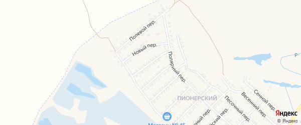 Спортивный переулок на карте Еманжелинска с номерами домов