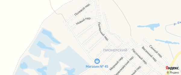 Веселый переулок на карте Еманжелинска с номерами домов