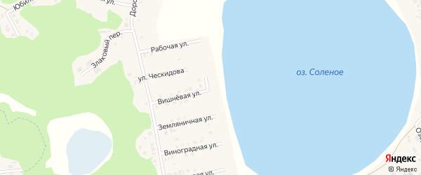 Пляжная улица на карте Увельского поселка с номерами домов
