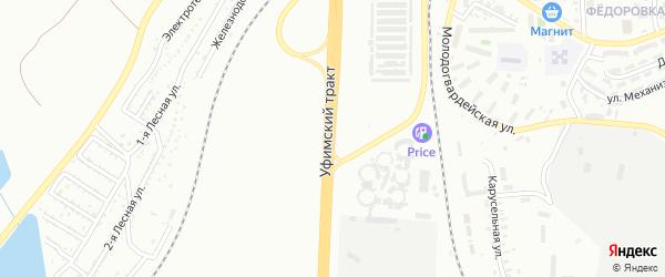 Улица Уфимский тракт на карте Челябинска с номерами домов