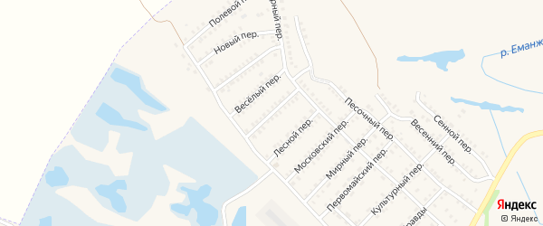 Красноармейский переулок на карте Еманжелинска с номерами домов