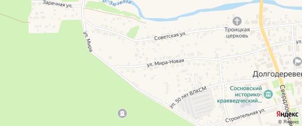 Мира Новая улица на карте Долгодеревенского села с номерами домов